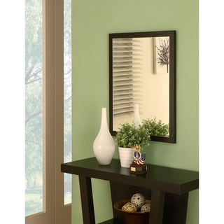 Furniture of America Holme Red Cocoa Wall Mirror