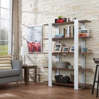 Furniture of America Heon Modern Walnut 5-tier Display Bookshelf