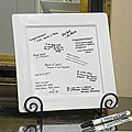 DIY Decorative Signature Platter, Pen & Easel Set
