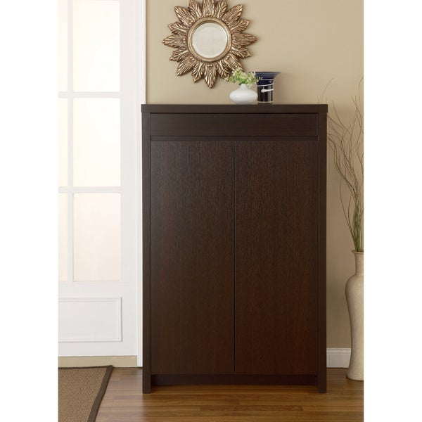 Furniture of America Studio 5-shelf Red Cocoa Shoe Cabinet