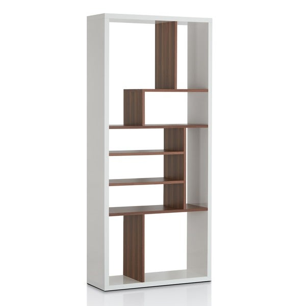 Furniture of america bart multi tiered modern display for Furniture of america nara contemporary 6 shelf tiered open bookcase