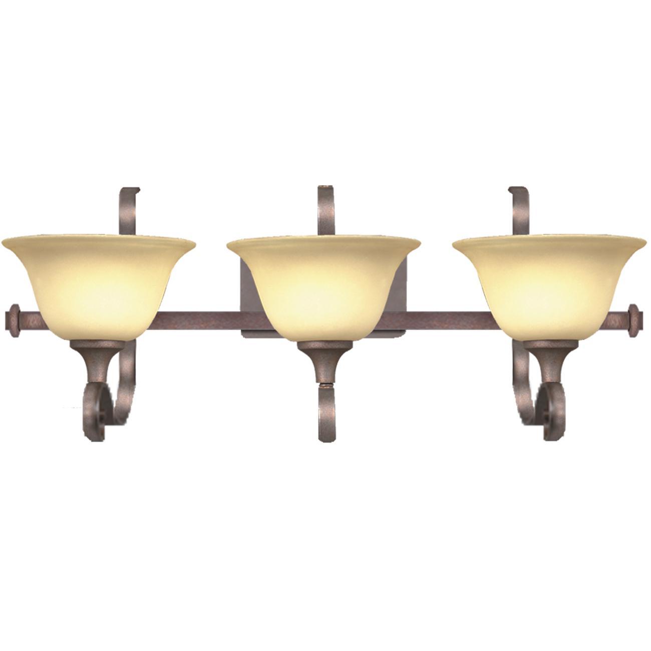 Silver Bronze 3-light Vanity Light Fixture