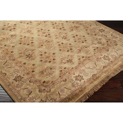Hand-knotted Bronze Wool Rug (3'6 x 5'6)