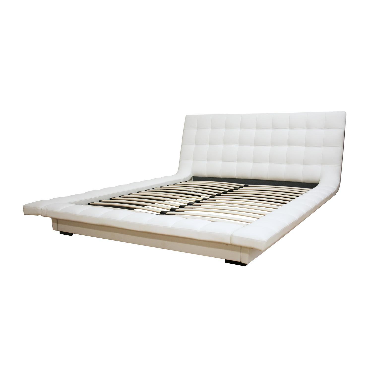 White Queen Platform Bed 1500 x 1500