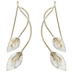 Tressa Goldfill and Sterling Silver Calla Lily Earrings