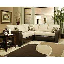 Graham 2-piece Chenille Sectional Sofa