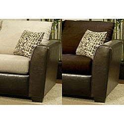 Furniture of America Graham 2-piece Chenille Sectional Sofa