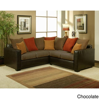 Furniture of America Bailey 2-piece Suede Sectional Sofa