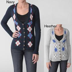 Ci Sono by Adi Juniors Argyle Buttoned Sweater