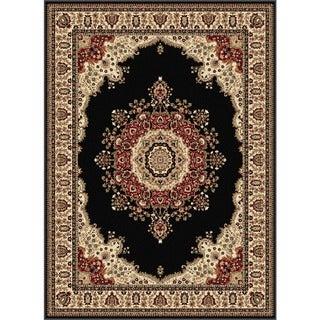 Soho Black Oriental Area Rug (5'3 x 7'3)