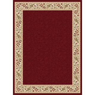Soho Red Oriental Area Rug (5'3 x 7'3)