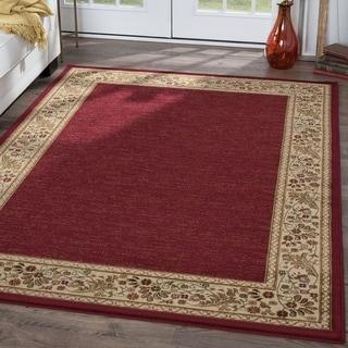 Soho Red Oriental Rug (7'10 x 10'3)