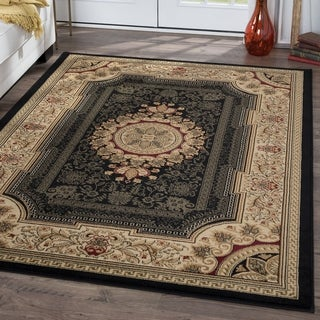 Soho Black Oriental Rug (7'10 x 10'3)