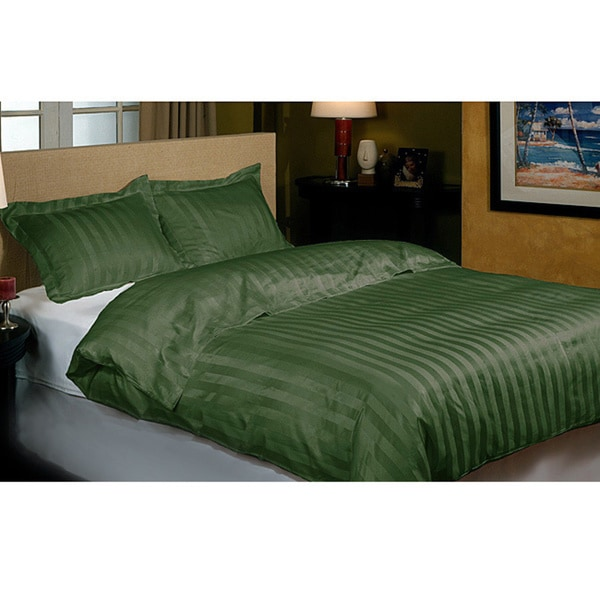 Hotel grand 800 thread count sage green cabana stripe for Hotel design 800 thread count comforter