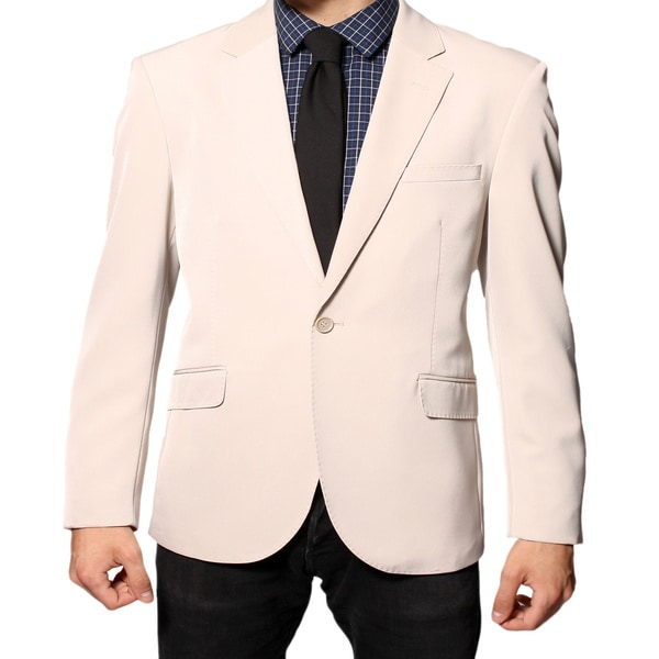 Ferrecci Men's Beige Slim Fit Sportscoat