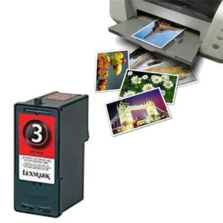 Pack of 2 Lexmark 3 Compatible Black Ink Glossy and Photo Paper (Remanufactured)