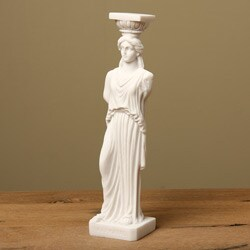 White Bonded Marble Caryatid of Acropolis Maiden Statue