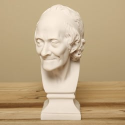 White Bonded Marble Francios Voltaire Bust