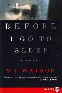 Before I Go to Sleep (Paperback)