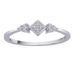 10k White Gold Diamond Pave Fashion Ring (G-H, I2-I3) (Size 6.75)