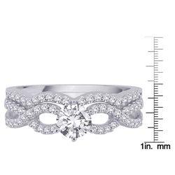 14k White Gold 1ct TDW Diamond Bridal Ring Set (G-H, SI1) (Size 6.75)
