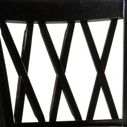 Jasna Wood Black Leather Bar-height Stool