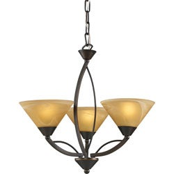 Indoor 3-light Aged Bronze Chandelier