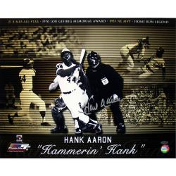 Steiner Sports Hank Aaron 'Hammerin Hank' Career Collage 16x20 Photograph