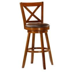 RYLAND X-Cross Swivel 29-inch Bar Height Stool