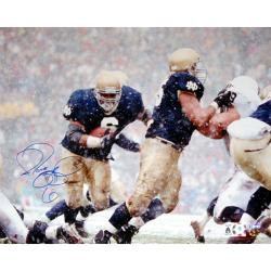 Notre Dame Jerome Bettis vs. Penn State in Snow Autographed Photo