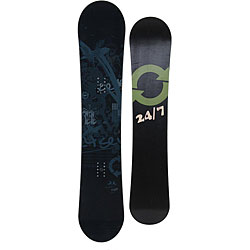 24 Seven Men's 152 cm Night Snowboard