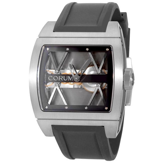 Corum Men's 'Ti-Bridge' Silver Dial Titanium Watch