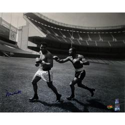 Steiner Sports Muhammad Ali Running At Yankee Stadium Photograph