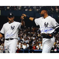 New York Yankees Joba Chamberlain/Derek Jeter Dual Autographed Photo