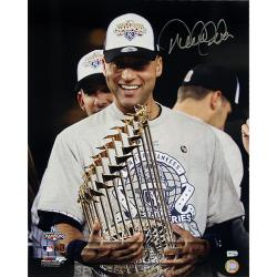 Steiner Sports Derek Jeter with 2009 World Series Trophy Photograph
