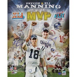 Steiner Sports Peyton/ Eli Manning Signed 'Back to Back MVP' Collage