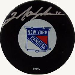 New York Rangers Mark Messier Autograph Hockey Puck