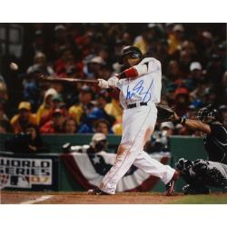 Boston Red Sox Manny Ramirez '07 World Series Swing 16x20 Autographed Photo