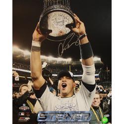 New York Yankees Alex Rodriguez 09' World Series Trophy 16x20 Autographed Photo