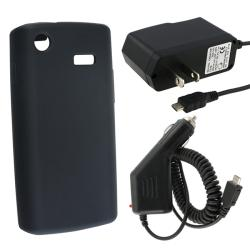 Black Case/ Car Charger for Samsung i897 Captivate