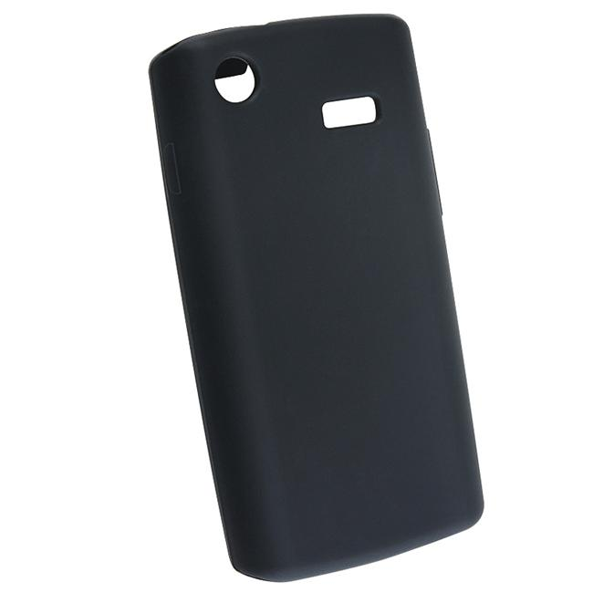Insten Black Silicone Phone Case Cover for Samsung i897 Captivate