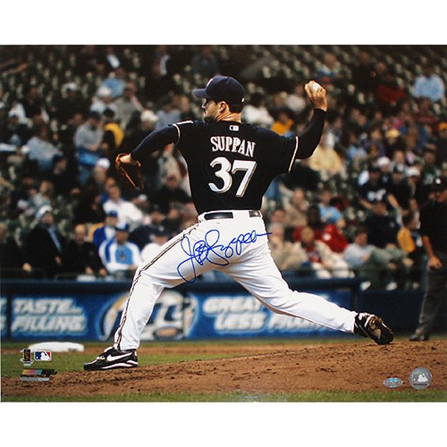 "Steiner Sports Jeff Suppan Brewers Hand-Signed 16"" x 20"" Photo"
