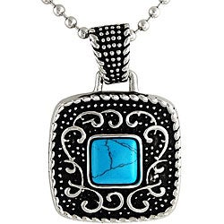 Stainless Steel Turquoise Antique Necklace