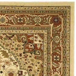 Lyndhurst Collection Ivory/ Rust Oriental Rug (9' x 12')