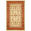 Lyndhurst Collection Ivory/ Rust Rug (8' x 11')