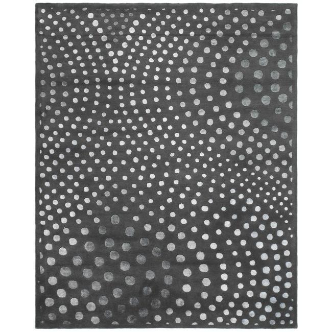 Safavieh Handmade Soho Abstract Wave Dark Grey Wool Rug