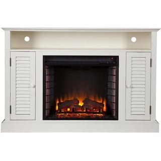Upton Home Herschel White Media Console Fireplace