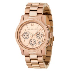 Michael Kors Women's MK5128 Chronograph Rose Gold-Tone Watch