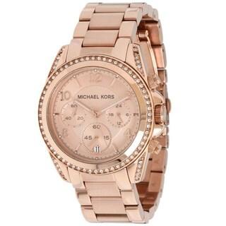Michael Kors Women's MK5263 'Blair' Rose Gold-Tone Chronograph Watch