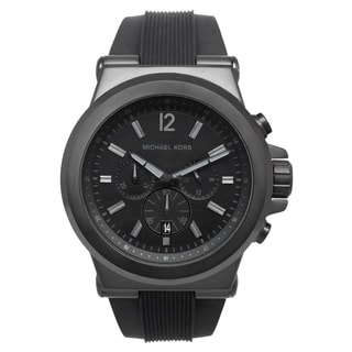Michael Kors Men's MK8152 Black Silicone Strap Watch
